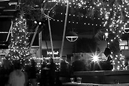 December 8, 2016, San Diego, California, USA:  The 2016 East Village (San Diego) Tree Lighting, hosted by the East Village Association at Quartyard.  Music by the Christmas Collective, made up of members of Kith & Kin and another band.