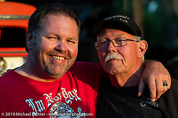 Roadside Marty Davis and Steve Broyles during the Sturgis Black Hills Motorcycle Rally. Sturgis, SD, USA. Monday, August 5, 2019. Photography ©2019 Michael Lichter.