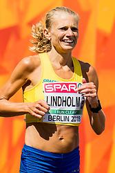 August 12, 2018 - Berlin, GERMANY - 180812 Hanna Lindholm of Sweden competes in the women's marathon final during the European Athletics Championships on August 12, 2018 in Berlin..Photo: Vegard Wivestad GrÂ¿tt / BILDBYRN / kod VG / 170206 (Credit Image: © Vegard Wivestad Gr¯Tt/Bildbyran via ZUMA Press)