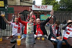 14 September 2017 -  UEFA Europa League (Group H) - Arsenal v FC Koln - FC Koln fans early drinking in Islington - Photo: Mark Leech/Offside