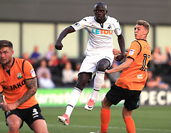 12 July 2017 Pre-season friendly football : Barnet v Swansea City :<br /> Modou Barrow of Swansea has a shot.<br /> Photo: Mark Leech