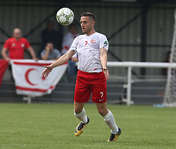May 31, 2018 - London, United Kingdom - Yasin Kurt of Northern Cyprus.during Conifa Paddy Power World Football Cup 2018  Group B match between Northern Cyprus against Karpatalya at Queen Elizabeth II Stadium (Enfield Town FC), London, on 31 May 2018  (Credit Image: © Kieran Galvin/NurPhoto via ZUMA Press)