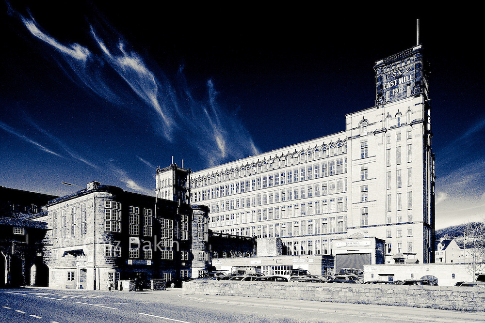 Creatively toned image of East Mill, Belper, Derbyshire