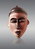 African tribal ceremonial face mask, wooden traditional tribe mask.