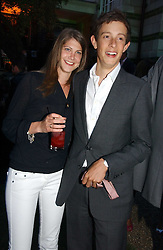Left to right, the HON.JAMES ROTHSCHILD and PRINCESS FLORENCE VON PREUSSEN at the Quintessentially Summer Party held at Debenham House, 8 Addison Road, London W14 on 15th June 2006.<br />