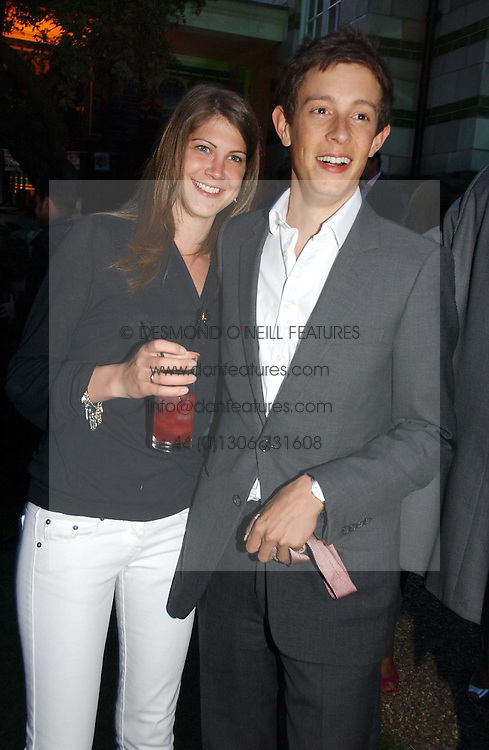 Left to right, the HON.JAMES ROTHSCHILD and PRINCESS FLORENCE VON PREUSSEN at the Quintessentially Summer Party held at Debenham House, 8 Addison Road, London W14 on 15th June 2006.<br /><br />NON EXCLUSIVE - WORLD RIGHTS