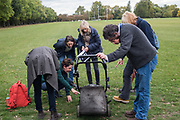 Capel Manor College RHS course assesment on using lawnmower, REGENTS PARK, 3 October 2018
