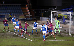 Goalmouth action between Peterborough United and Ipswich Town - Mandatory by-line: Joe Dent/JMP - 09/02/2021 - FOOTBALL - Weston Homes Stadium - Peterborough, England - Peterborough United v Ipswich Town - Sky Bet League One