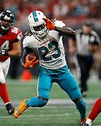 Jay Ajayi, NFL football game between the Miami Dolphins and the Atlanta Falcons, Sunday, Oct. 15, 2017 in Atlanta. (Photo by Mike ZarrilliPanini)