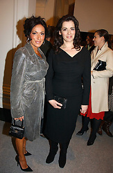 Left to right, NANCY DELL'OLIO and NIGELLA LAWSON at a reception to celebrate the opening of 'USA Today' - an exhibition of work from The Saatchi Gallery held at The Royal Academy of Arts, Burlington Gardens, London on 5th September 2006.<br /><br />NON EXCLUSIVE - WORLD RIGHTS