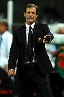 """Massimiliano ALLEGRI allenatore Milan<br /> Milano 21/8/2011 Stadio """"Giuseppe Meazza San Siro""""<br /> Trofeo """"Luigi Berlusconi""""<br /> Calcio Football - Milan Vs Juventus <br /> Foto Insidefoto Andrea Staccioli"""