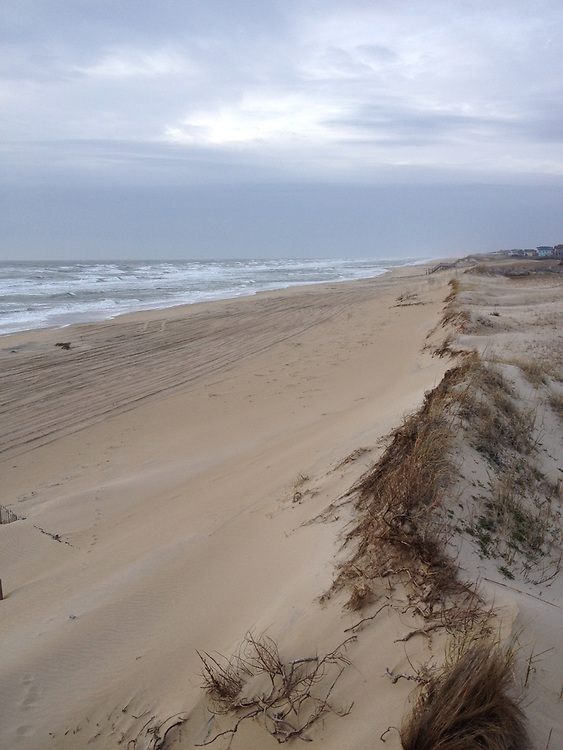 Lonely beach on North Carolina Outer Banks