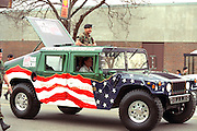 National Guard Hummer at Cinco de Mayo festival.  St Paul Minnesota USA