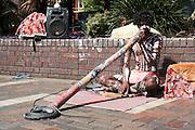 Sydney, Australia Aboriginal Didgeridoo player