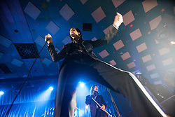 A wide angle shot from the photo pit of Nick Cave, of Nick Cave and the Bad Seeds, on stage tonight at The Barrowlands, Glasgow, Scotland.<br /> ©Michael Schofield.