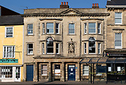 Historic building of Parnella House, c1800, Market Place, Devizes, Wiltshire, England, UK