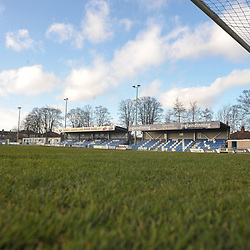 TELFORD COPYRIGHT MIKE SHERIDAN A general view of Nethermoor Park  during the Vanarama Conference North fixture between Guiseley and AFC Telford United at Nethermoor Park on Saturday, February 8, 2020.<br /> <br /> Picture credit: Mike Sheridan/Ultrapress<br /> <br /> MS201920-046