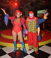 denise welch and Dad Vin <br />at Denise Welch  and dad Vin Circus of Dreams ball  Principal Hotel Manchester in. aid of the Gem Appeal