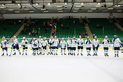 Team Slovenia during match at Beat Covid 19 IIHF Tournament 2021 between national teams of Slovenia and France in Hala Tivoli on 17th of May, 2021, Ljubljana, Slovenia . Photo By Grega Valancic / Sportida