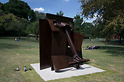 Frieze Sculpture 2017 opens to the public on July 5th 2017 in the English Gardens in Regents Park, London, England, United Kingdom. This is London's largest showcase of major outdoor works by leading artists and galleries, presenting a free outdoor exhibition for London and its international visitors throughout the summer months. Anthony Caro, Erl King 2009.