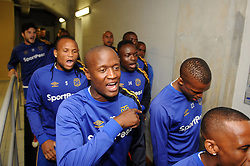 Cape Town 18-03-03 Cape Town City players singing before their PSL Game In Athlone Staduim against Chippa United Pictures Ayanda Ndamane African news agency/ANA
