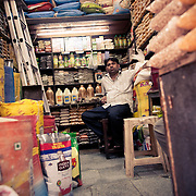 A shopkeeper at INA market New Delhi