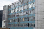 Mid century office building in the city centre, which is earmarked for redevelopment into residential flats on 5th August 2020 in Birmingham, United Kingdom. The flatted factory in Holloway Head, known as Lee Bank Business Centre, was built by Birmingham City Council in the late 1950s to accommodate small industrial units displaced by redevelopment schemes in the city centre.