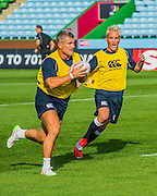 Jaimie Laing runs in support - Training starts for inaugural RUGBY AID 2015 charity match which takes place on Friday 4th September 2015 at the Twickenham Stoop. The celebrity charity game will be in aid of RUGBY FOR HEROES  of which Mike Tindall MBE is Patron. The charity raises funds and awareness through the sport of rugby, the fan community and the wider professional player network, to support military personnel who are making the transition back from military service to civilian life. The teams (England v's Rest of the World) include former international rugby players, celebrities and serving members of the armed forces. Harlequins Rugby , The Stoop, Twickenham, London UK, 02 Sept 2015