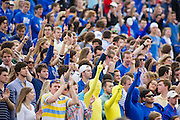 Dec 1, 2012; Tulsa, Ok, USA; The crowd cheers during a game between the Tulsa Hurricanes and the University of Central Florida Knights at Skelly Field at H.A. Chapman Stadium. Tulsa defeated UCF 33-27 in overtime to win the CUSA Championship. Mandatory Credit: Beth Hall-USA TODAY Sports