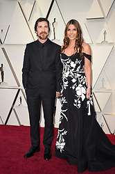 Christian Bale and Sibi Blazic walking the red carpet as arriving to the 91st Academy Awards (Oscars) held at the Dolby Theatre in Hollywood, Los Angeles, CA, USA, February 24, 2019. Photo by Lionel Hahn/ABACAPRESS.COM