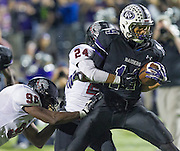 Cedar Ridge wide receiver David Racine catches and runs for a touchdown in the first half against Bowie at Kelly Reeves Athletic Complex.  (LOURDES M SHOAF for Round Rock Leader)p