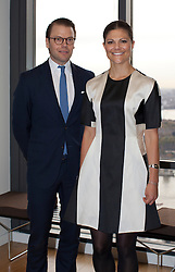 © Licensed to London News Pictures . H.R.H. Crown Princess Victoria and H.R.H. Prince Daniel visit  Level39, Europe's largest FinTech accelerator space, at Canary Wharf, London. (07/11/2013) . Photo credit : LNP
