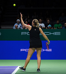 October 26, 2018 - Kallang, SINGAPORE - Timea Babos of Hungary in action during her doubles quarterfinal match at the 2018 WTA Finals tennis tournament (Credit Image: © AFP7 via ZUMA Wire)