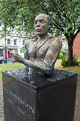 © Licensed to London News Pictures; 12/06/2020; Bristol, UK. The statue of Jamaican-born playwright, poet and actor Alfred Fagon in St Pauls, Bristol. Today, 12 June 2020, the statue has been covered with what appears to be a corrosive substance thought to be bleach. At a Black Lives Matter protest on 07 June 2020 the statue of slave trader and philanthropist Edward Colston which has stood in Bristol city centre for over 100 years was pulled down with ropes and thrown in Bristol Docks by protesters during the BLM rally and march through the city centre in memory of George Floyd, a black man who was killed on May 25, 2020 in Minneapolis in the US by a white police officer kneeling on his neck for nearly 9 minutes. The killing of George Floyd has seen widespread protests in the US, the UK and other countries. Photo credit: Simon Chapman/LNP.
