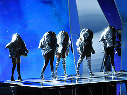 LOS ANGELES - AUGUST 27: Fifth Harmony perform on the 2017 'MTV Video Music Awards' at The Forum on August 27, 2017 in Los Angeles, California. (Photo by Frank Micelotta/PictureGroup)