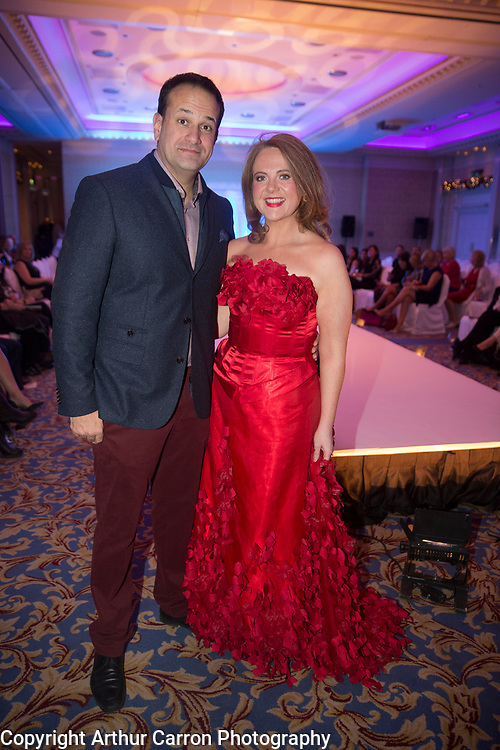 8/12/15 Minister Leo Varadkar and Senator Catherine Noone at the Oireachtas Christmas Charity Fashion Show in aid of Research Motor Neurone in the Shelbourne Hotel. Picture: Arthur Carron