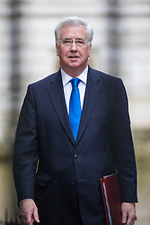 © Licensed to London News Pictures. 08/03/2017. London, UK. Defence Secretary Michael Fallon arrives on Downing Street for Cabinet. The government will unveil the budget today. Photo credit: Rob Pinney/LNP
