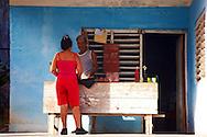 Shop on a porch in Gibara,Holguin,Cuba.
