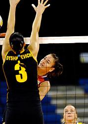 07-11-2007 VOLLEYBAL: PRE OKT: OEKRAINE - HONGARIJE: EINDHOVEN<br /> Oekraine wint met 3-0 van Hongarije / Anita Filipovics<br /> ©2007-WWW.FOTOHOOGENDOORN.NL