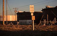TransCanada's Keystone XL Pipeline marker in Cushing Oklahoma.