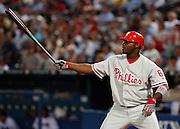 Phillies first baseman Ryan Howard during the game between the Atlanta Braves and the Philadelphia Phillies at Turner Field in Atlanta, GA on April 30, 2007..