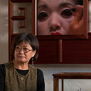 Wendy Maruyama at her home for SDHG magazine.