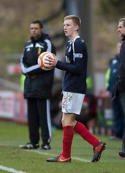 Falkirk's Liam Dick..Hamilton 1 v 2 Falkirk, Scottish Cup quarter-final, Saturday, 2nd March 2013..©Michael Schofield.
