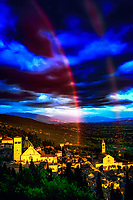 """Rainbow of God divides the sky between San Rufino and St. Clare of Assisi""...<br />