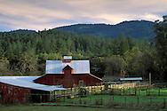 Barn at the tip of the Napa Valley, near Calistoga, Napa County, California