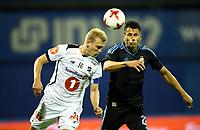 27.07.2017., Zagreb, Croatia - <br /> UEFA Europa League Third qualifying round, Game 1.  Dinamo Zagreb vs Odd BK.<br />  Leonardo Sigali.<br /> Steffen Hagen , Odd<br /> <br /> Norway only