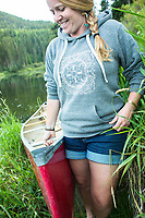 Paddling the Yaak River in northern Montana.