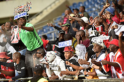 South Africa: Johannesburg: Orlando Pirates supporters celebrates during the Premier Soccer League (PSL) against Cape Town City at Orlando Stadium in Soweto, Gauteng.<br />Picture: Itumeleng English/African News Agency (ANA)