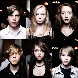 """Kids from the movie feature """"White Ribbons"""" from director Michael Haneke, shot at Le Majestic hotel during the 62nd Cannes Film Festival. France. 21 May 2009. Photo: Antoine Doyen"""