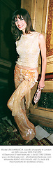 Model LISA BARBUSCIA. (Lisa B) at a party in London on 26th January 2002.OWY 292